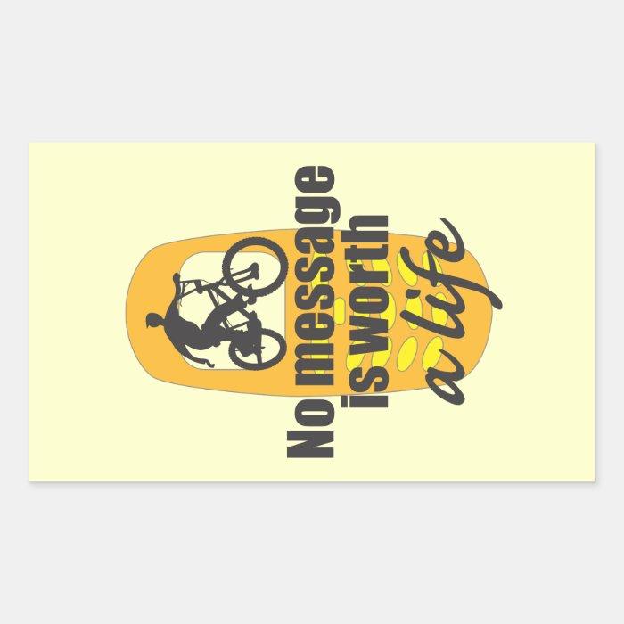 No Message is Worth a Life Rectangular Sticker
