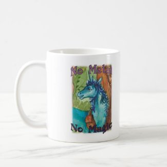No Metal No Magic - Blue Mug