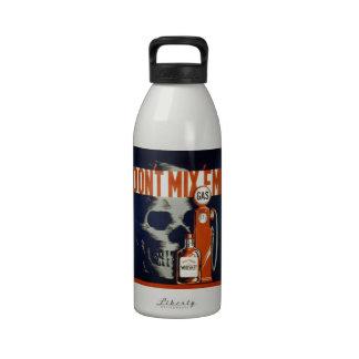 No mezcle la bebida Em-Don t y no conduzca Botella De Agua Reutilizable