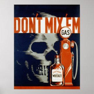 No mezcle la bebida Em-Don't y no conduzca Impresiones