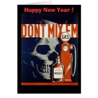 No mezcle la bebida Em-Don't y no conduzca Tarjeta