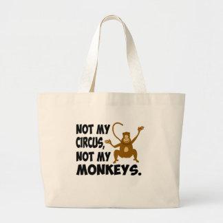 No mi circo bolsa tela grande