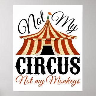No mi circo - no mi poster de los monos