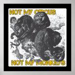 No mi circo, no mis monos impresiones