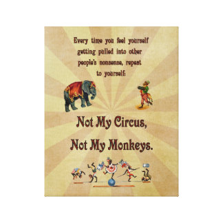 No mi circo, no mis monos lona estirada galerias