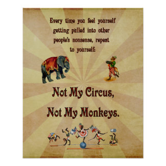 No mi circo, no mis monos perfect poster