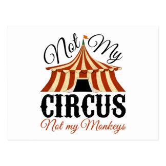 No mi circo - no mis monos postales
