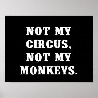 No mi circo, no mis monos póster
