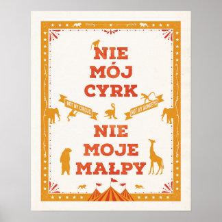 No mi circo, no mis monos: Poster Póster