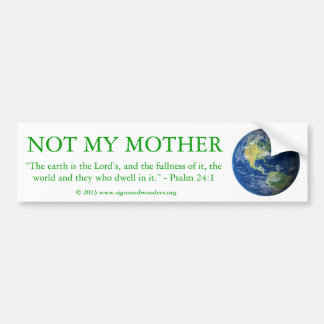 No mi pegatina para el parachoques de la madre pegatina para auto