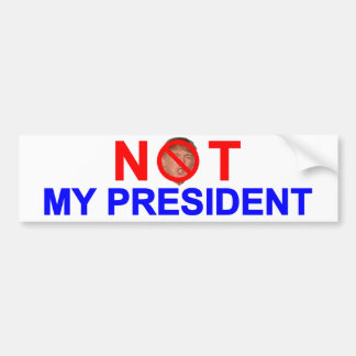 No mi presidente pegatina para auto