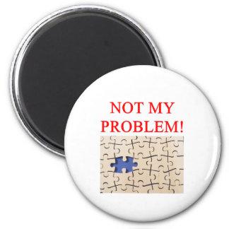 ¡no mi problema! imán redondo 5 cm
