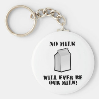 No Milk Will Ever Be Our Milk Keychain