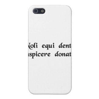No mire un caballo de regalo en la boca iPhone 5 funda