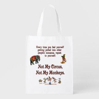No mis monos, no mi circo bolsa reutilizable