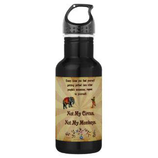 No mis monos, no mi circo botella de agua de acero inoxidable