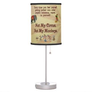 No mis monos, no mi circo lámpara de escritorio