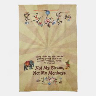 No mis monos, no mi circo toallas
