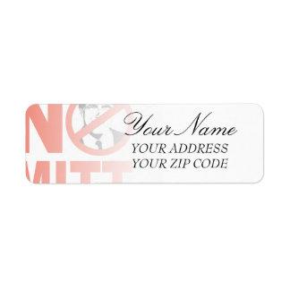 No Mitt Return Address Label