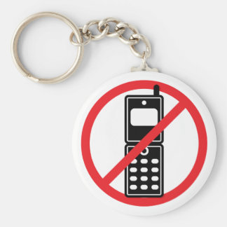 No Mobile Phones Key Chain