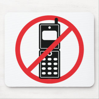 No Mobile Phones Mouse Pad