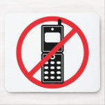 No Mobile Phones Mousepads