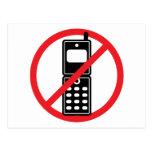 No Mobile Phones Postcards