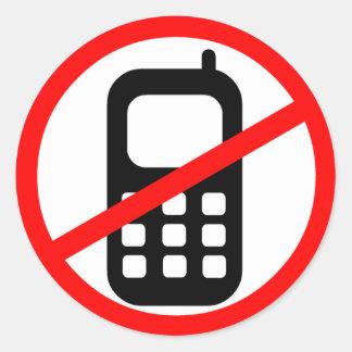 No Mobile Phones Symbol Classic Round Sticker