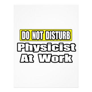 No moleste… al físico en el trabajo plantilla de membrete