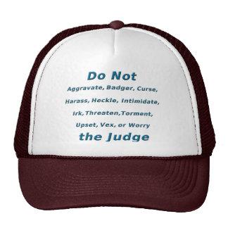 No moleste al juez gorros bordados