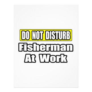 No moleste… al pescador en el trabajo flyer personalizado