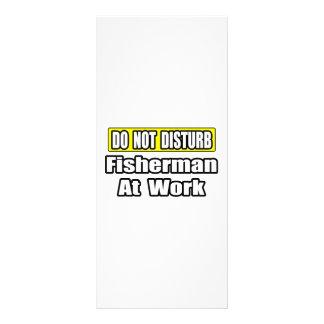 No moleste… al pescador en el trabajo tarjetas publicitarias