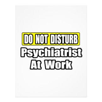 No moleste… al psiquiatra en el trabajo plantilla de membrete