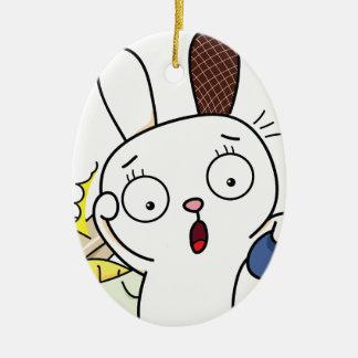 No money Bunny! Ceramic Ornament