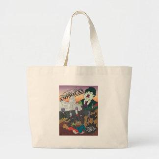 No Money Cover Illustration Large Tote Bag