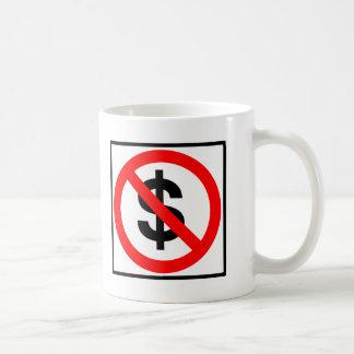No Money Highway Sign Coffee Mugs