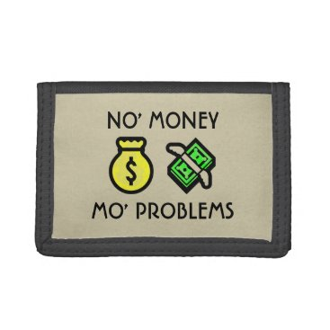 No Money More Problems Emoji Trifold Wallet