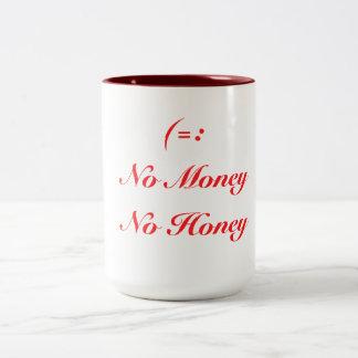 No Money Two-Tone Coffee Mug