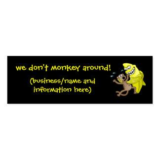 ¡no monkey alrededor! tarjetas de visita