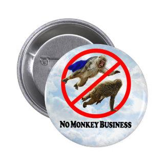 No Monkey Business - Round Button