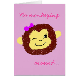 No Monkeying Around Monkey Get Well Soon Card