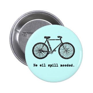 No monte en bicicleta ningunas camisetas y taza ne pin redondo de 2 pulgadas