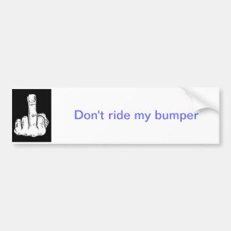 no monte mi parachoque pegatina para auto
