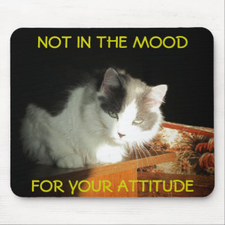 No Mood for Your Attitude Cat Meme Mouse Pad