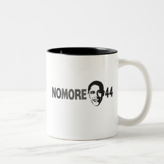 NO MORE 44 - Anti Obama Two-Tone Coffee Mug