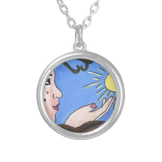 No more alone silver plated necklace