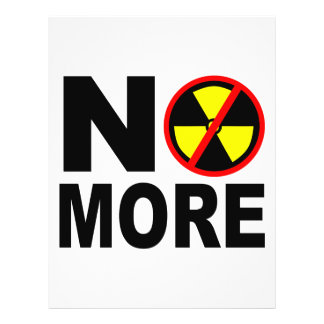 No More Anti Nuclear Flyer Template