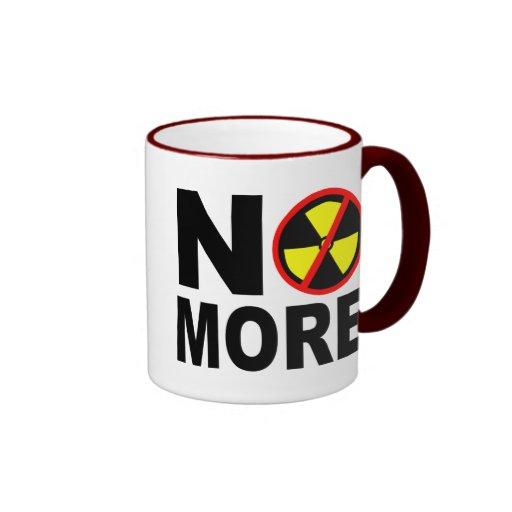 No More Anti-Nuclear Protest Slogan Coffee Mugs
