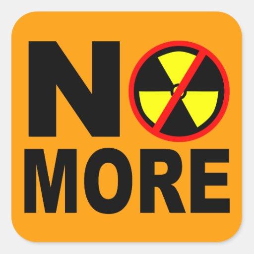 No More Anti-Nuclear Protest Slogan Sticker