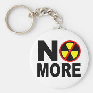 No More Anti-Nuclear Slogan Keychain